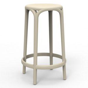 Barkruk Brooklyn ecru polypropylene zithoogte 66 cm