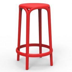 Barkruk Brooklyn zithoogte 66cm rood polypropylene