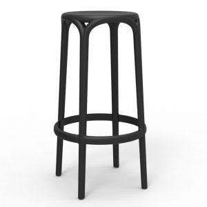 Brooklyn barkruk zwart polypropylene zithoogte 76cm