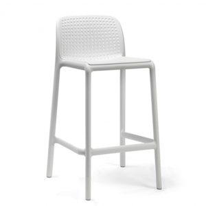 Barkruk Lido wit polypropylene zithoogte 65cm met rugleuning