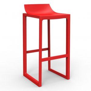 Barkruk Wall street rood Polypropylene zithoogte 76cm