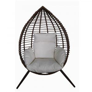 Lounge stoel bruin Rodos Egg