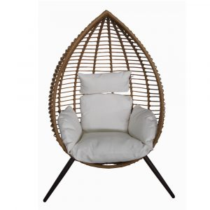 Lounge stoel honingbruin Rodos Egg